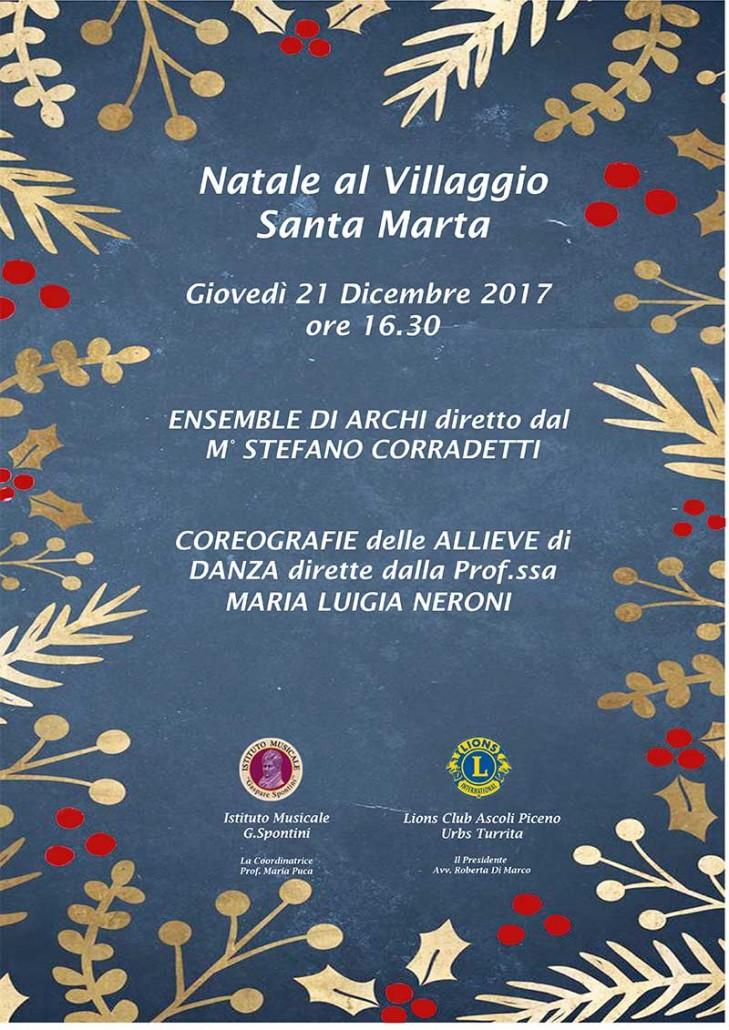 Natale al villaggio Santa Marta