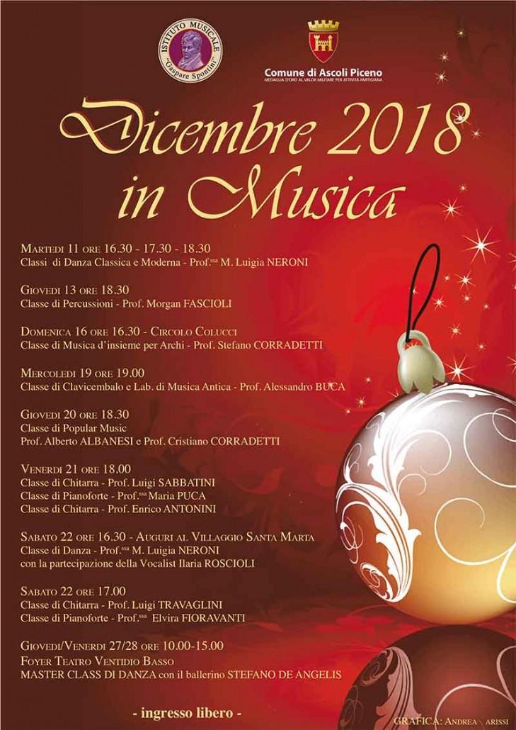 Dicembre in Musica 2018