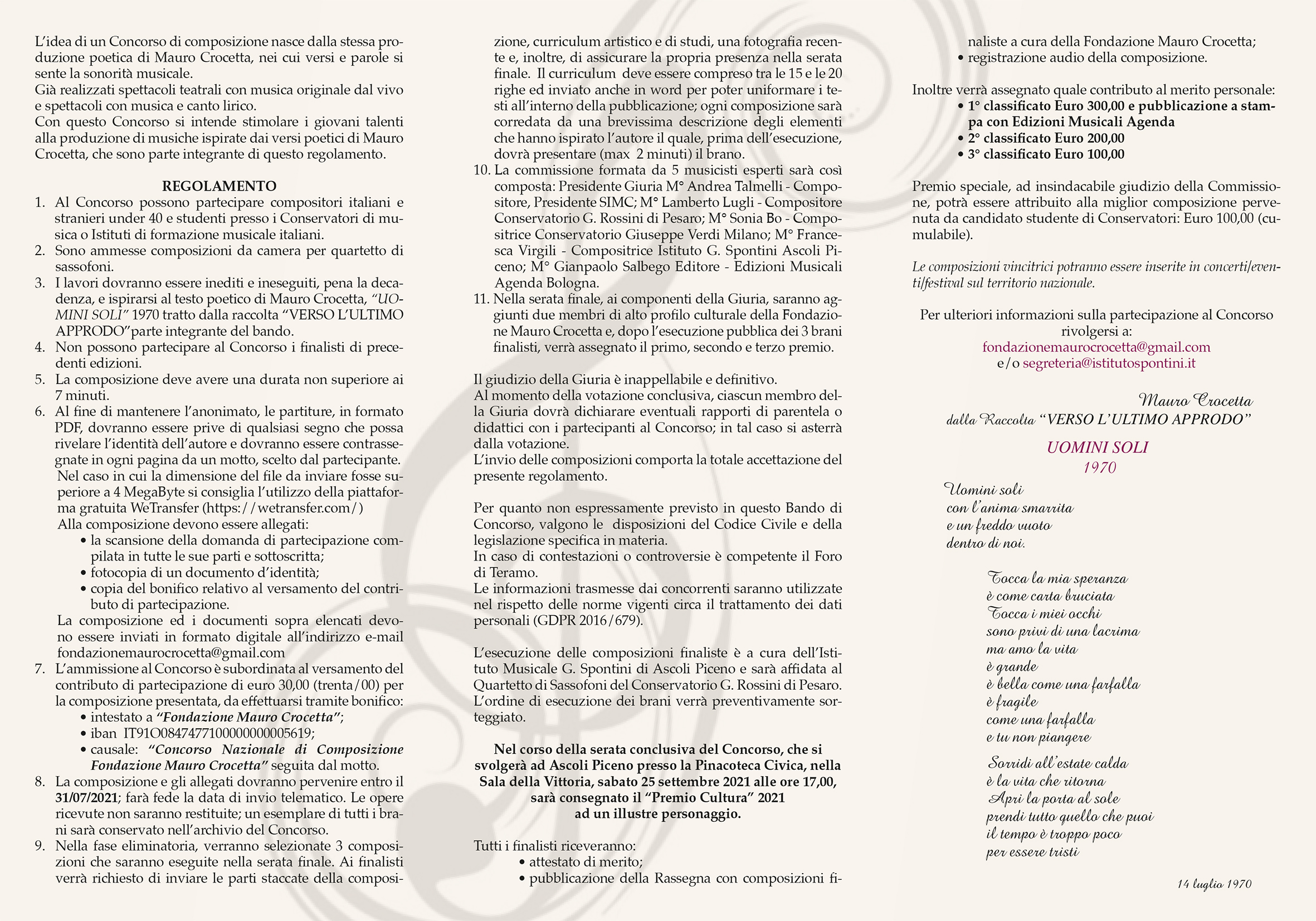 Brochure Bando 2021-2